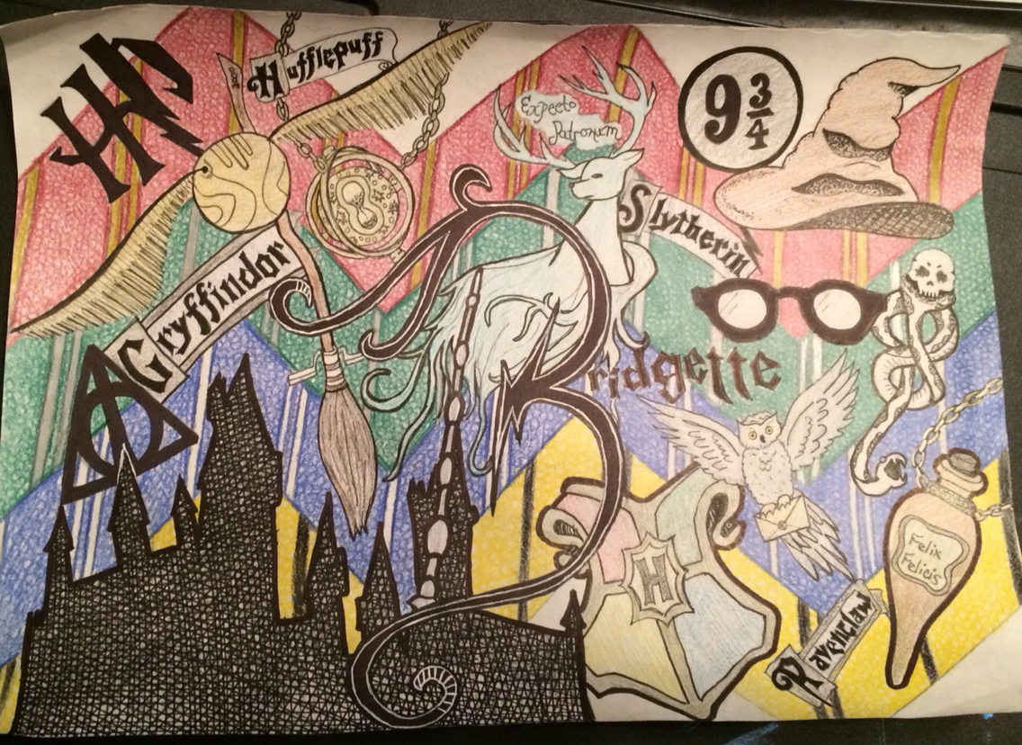 1136x828 My Harry Potter Collage Drawing!! My Artworks