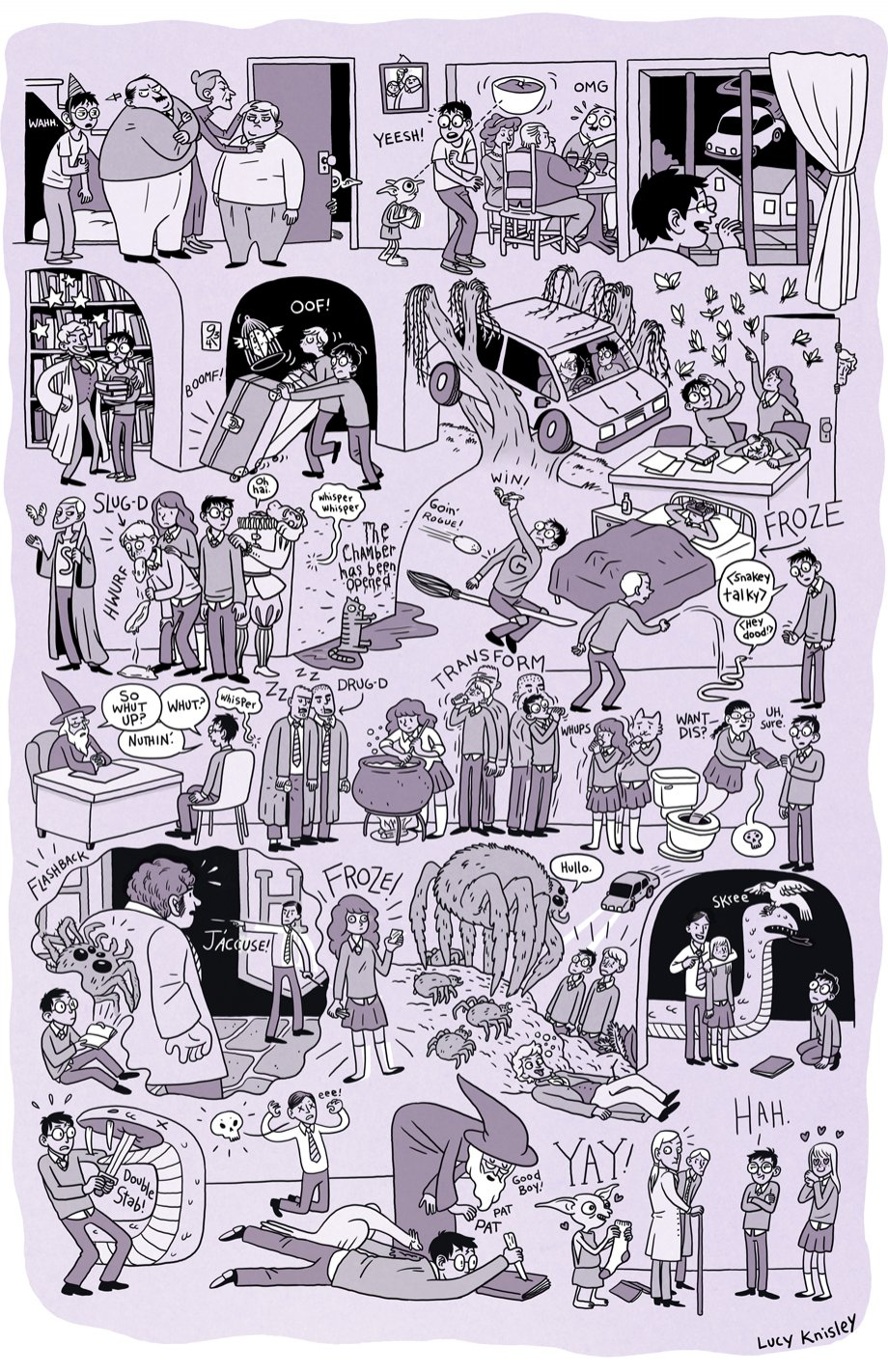 920x1422 This Drawing Of The Entire Harry Potter Series Is Better Than