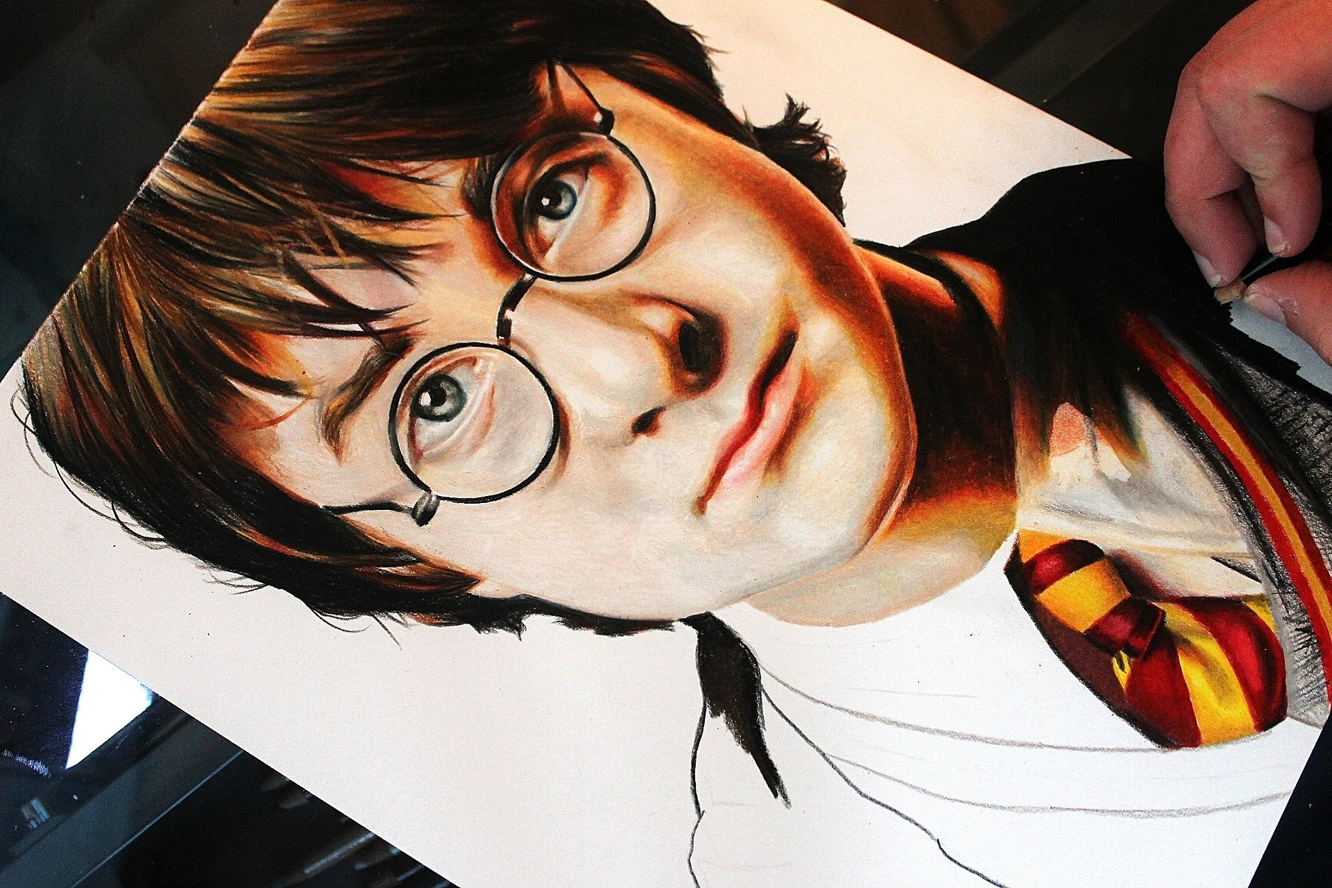 1920x1280 Drawing Harry Potter