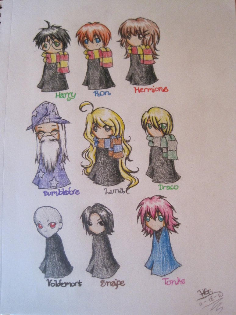 774x1032 Harry Potter Chibis By Muffinwifblueberries