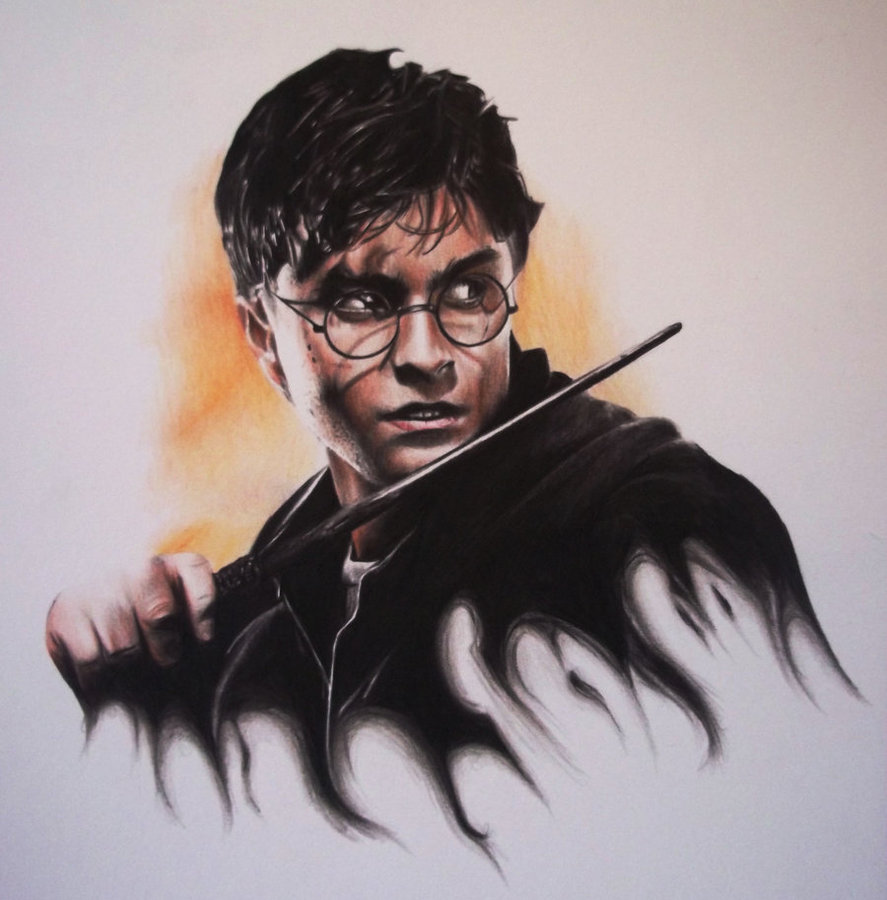 887x900 Harry Potter Drawing By Lewis3222