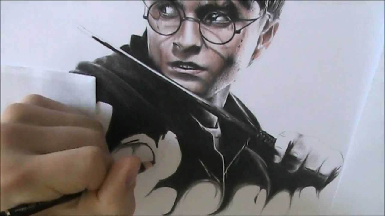 1280x720 Speed Drawing Harry Potter