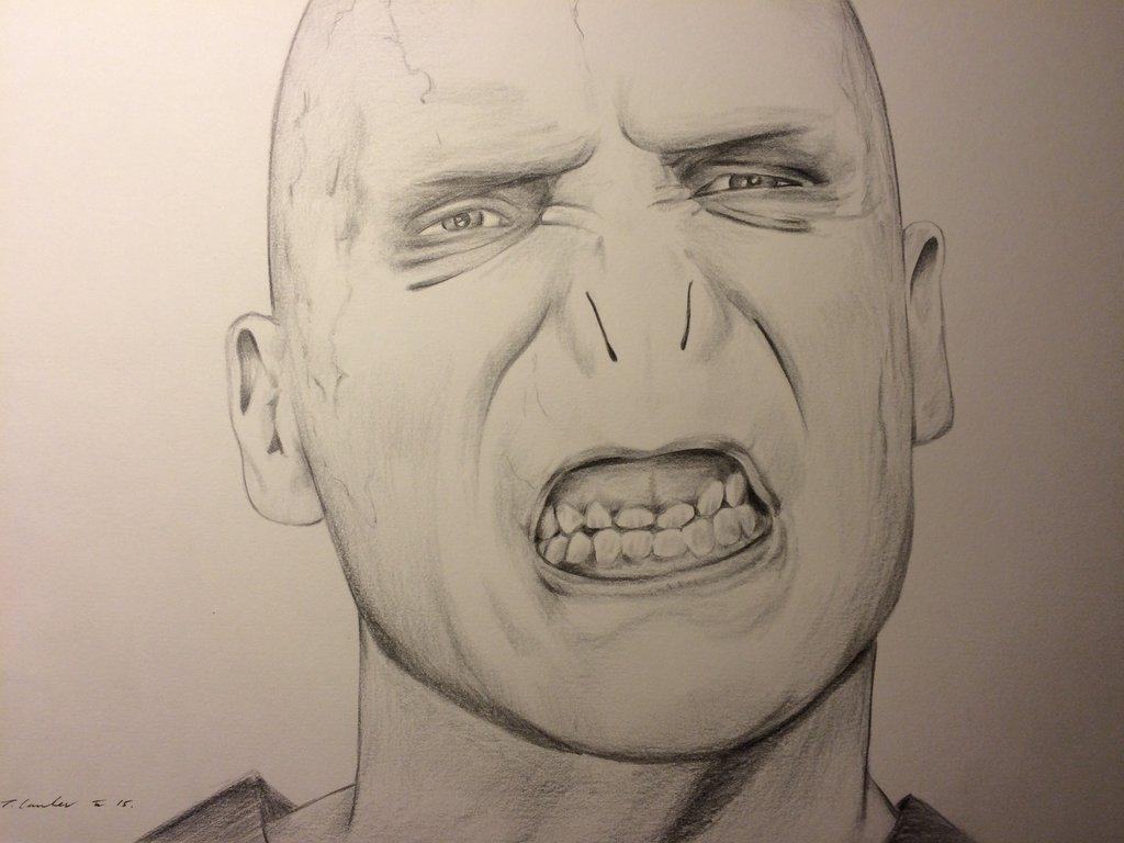 1024x768 Voldemort Harry Potter Drawing By Billyboyuk