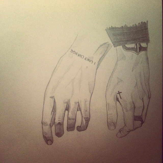 640x640 Harry Styles' Hands With Tattoos By Sirbizzle