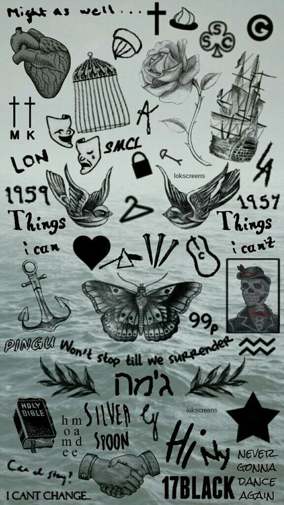 576x1024 Free Lockscreens On Harry Styles Tattoos, Collage And Tattoo