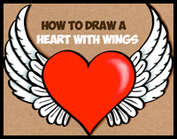 200x157 How To Draw Hearts With Flames, Wings, Arrows With Easy Step By