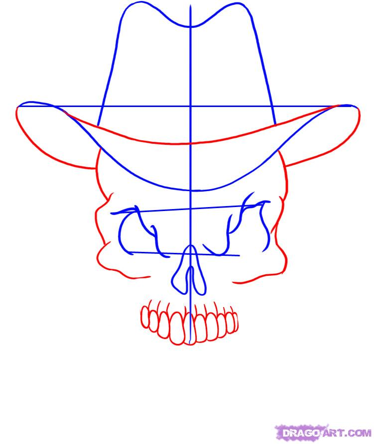 751x892 cowboy hat drawing skulls skulls and cross bones and jolly