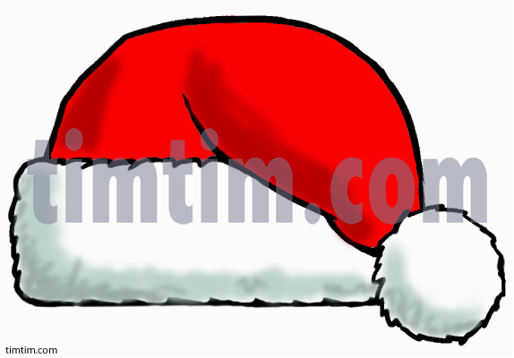 574x400 Free Drawing Of A Santa Hat From The Category Christmas