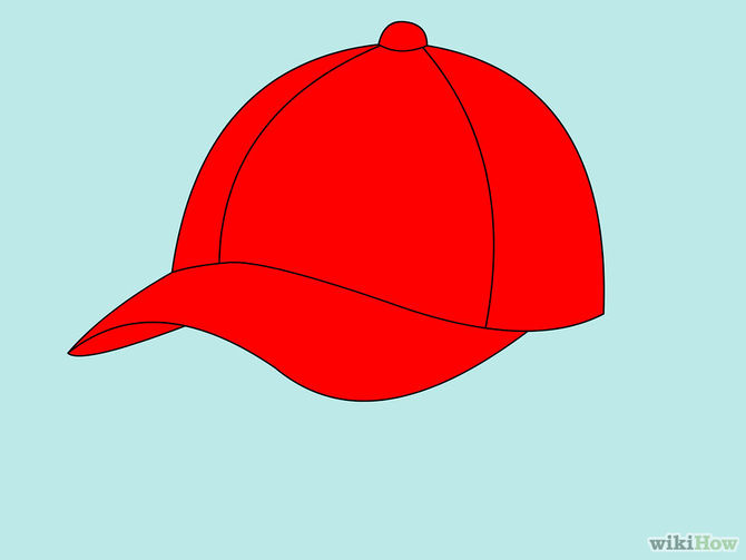 670x503 How To Draw A Baseball Cap 10 Steps (With Pictures)