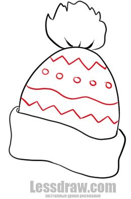 260x394 How To Draw A Winter Hat Lessdraw Drawing Ideas