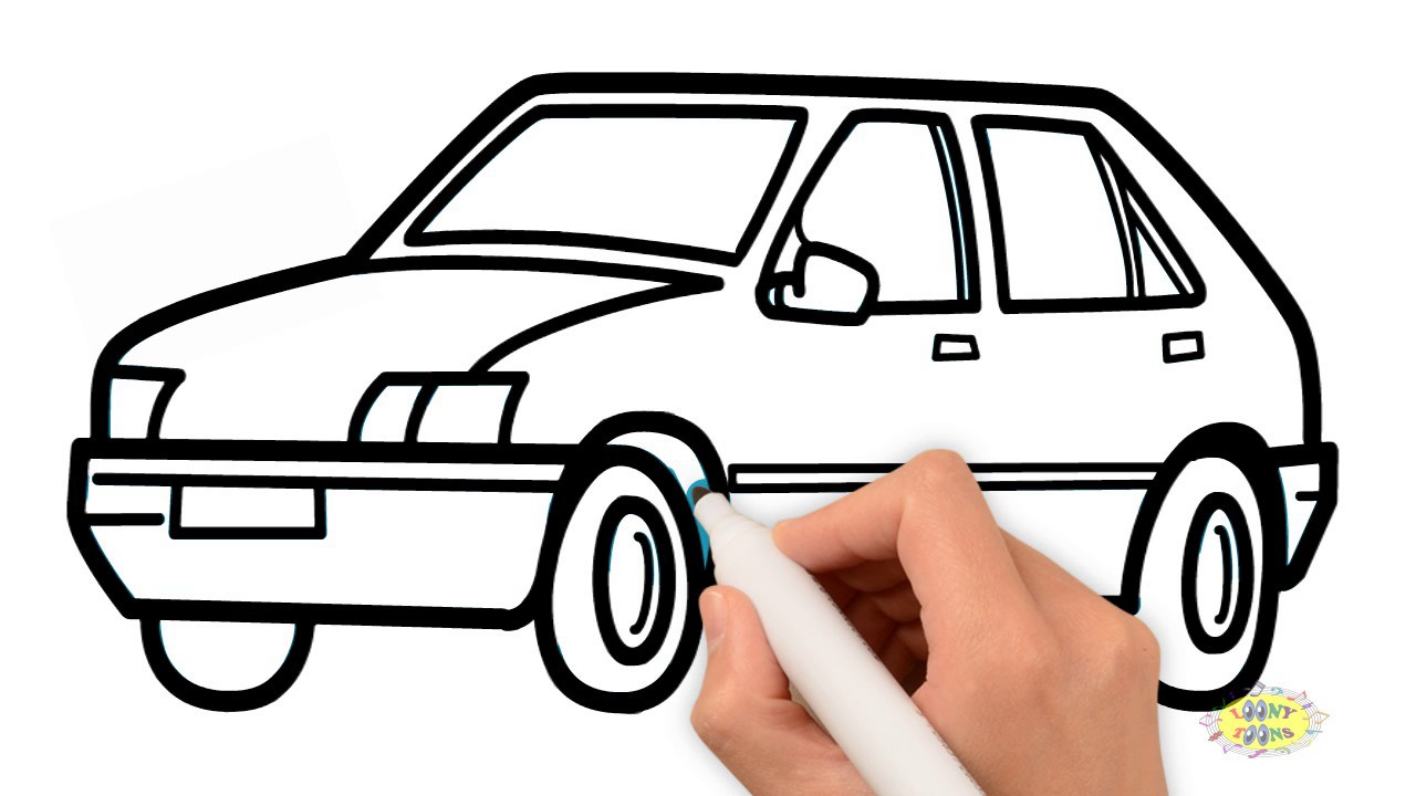 1280x720 How To Draw A Car For Kids