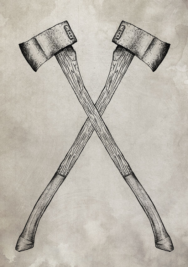 600x849 Axe Gang Tattoos Axe, Tattoo And Tatting