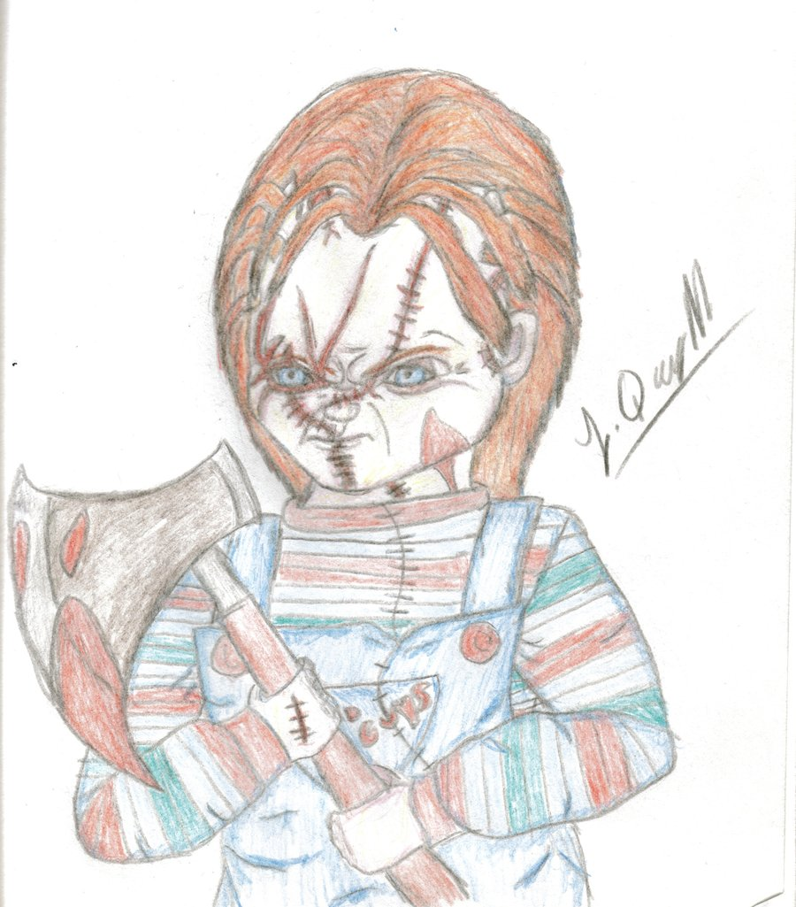 900x1025 Chucky And His Hatchet By Laquyn