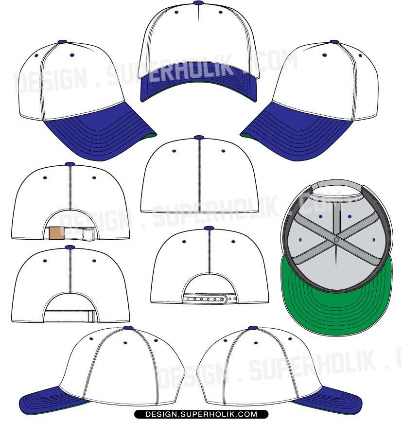 827x870 Baseball Hat Template Vector Fashion Vector Templates