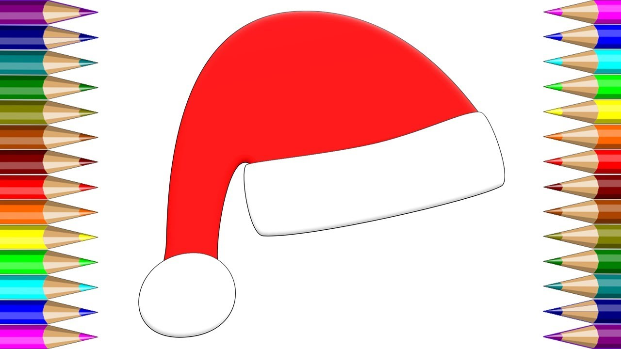 1280x720 Drawing Christmas Hat How To Draw Santa Hats Learn Colors