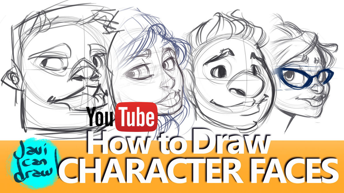 1191x670 How To Draw Faces, Hair, Hats And Glasses By Javicandraw