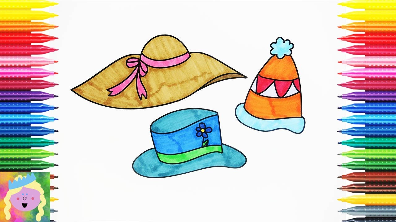 1280x720 Learn How To Draw And Color Hats With This Fun Coloring Page