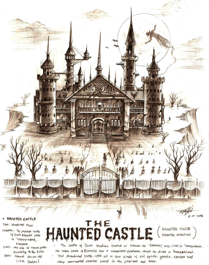 800x1015 The Haunted Castle By Artstain