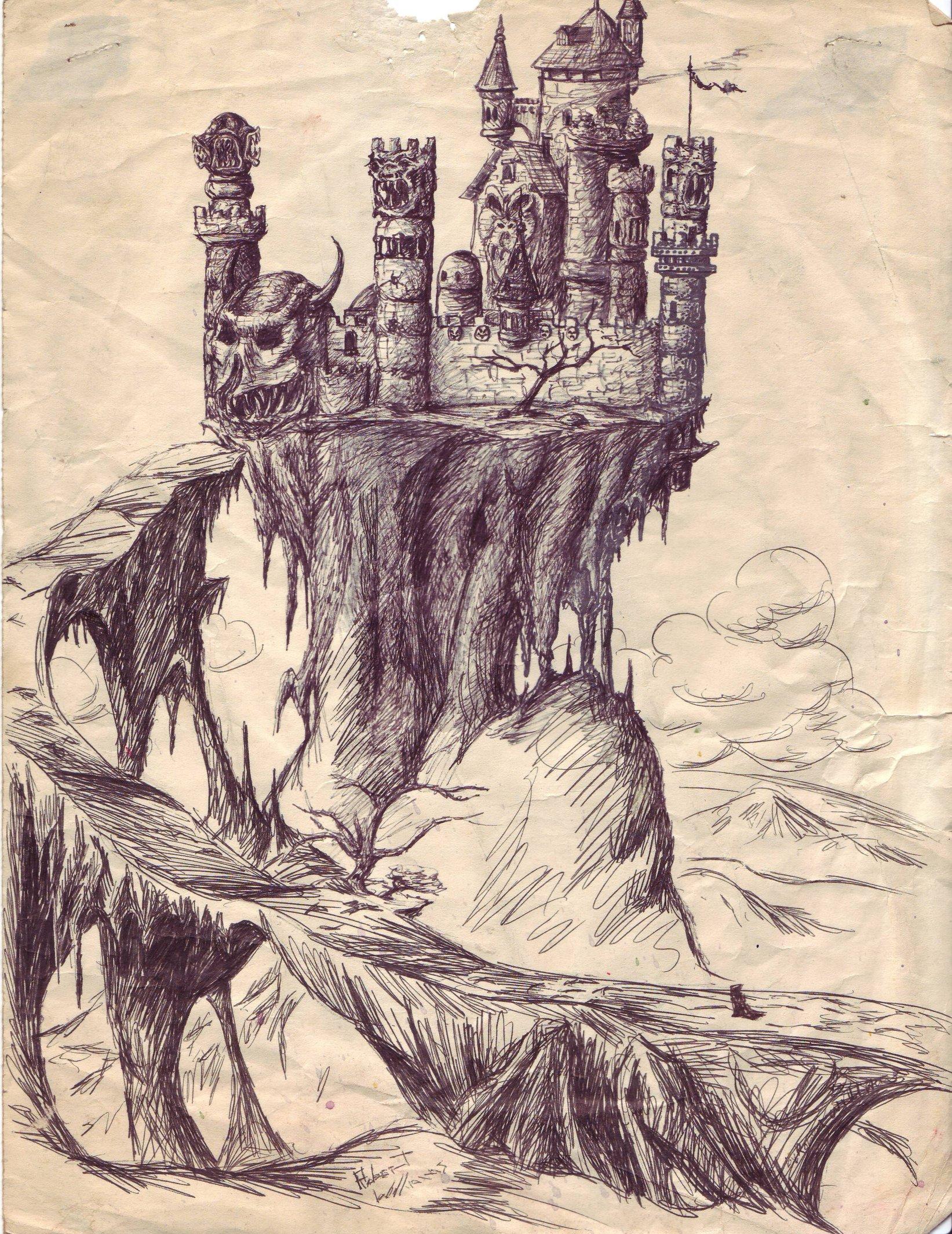 1643x2129 Fanasty Haunted Castle By Deadlyvillain