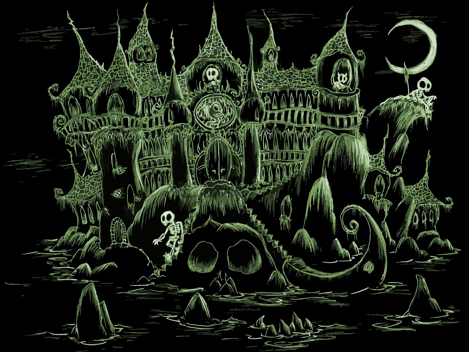 1600x1200 Haunted Black Castle