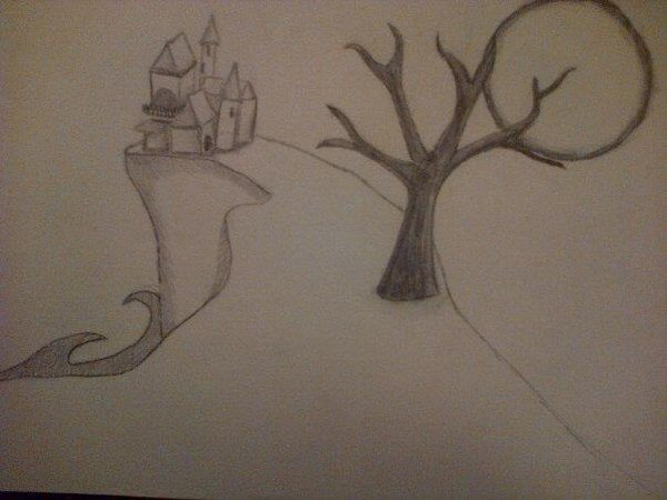 600x450 Haunted House Drawing By Autumnauntzy