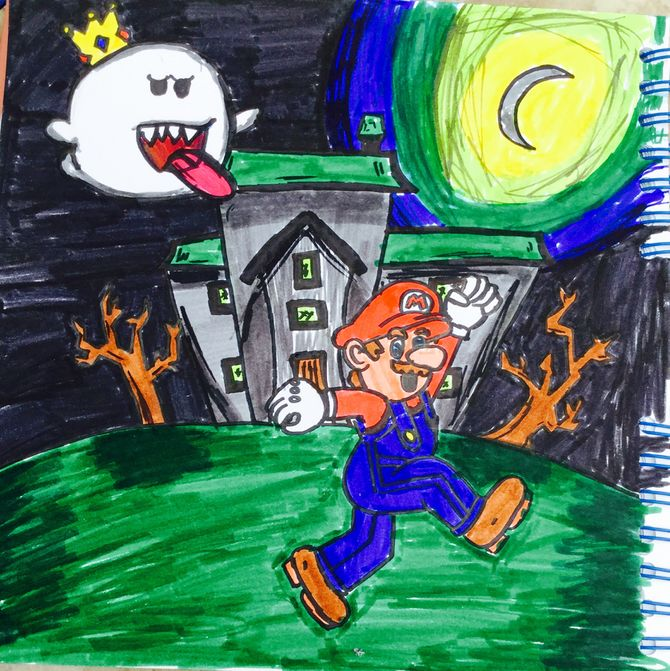 670x671 How To Draw A Haunted House 15 Steps (With Pictures)