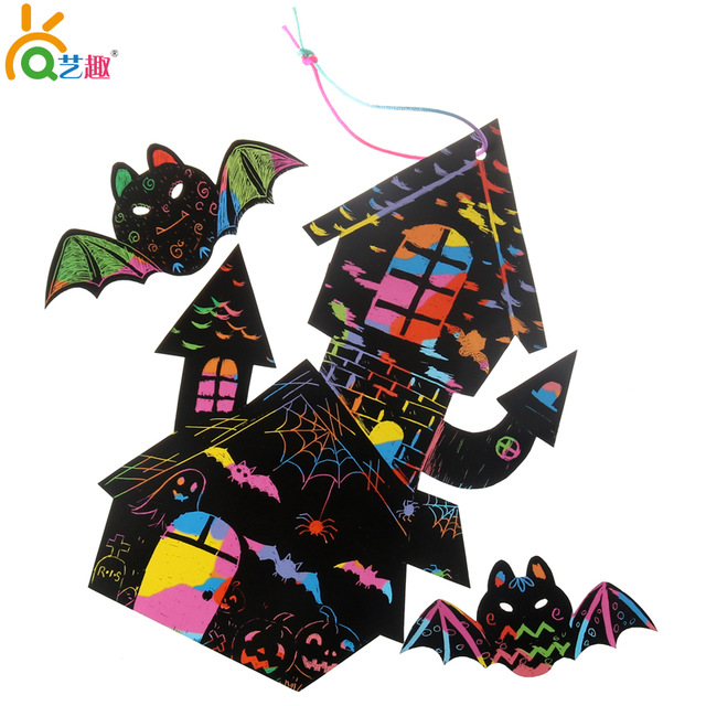 640x640 8 Pcs Children Scrapping Painting Toys Kids Child Halloween Bat