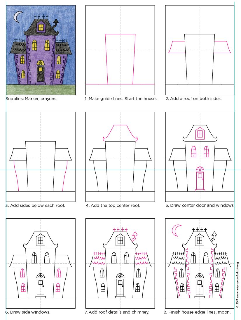 826x1094 Draw An Urban Haunted House Haunted Houses, Pdf And Tutorials