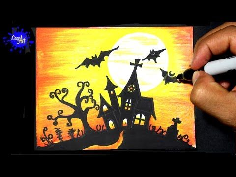 480x360 Drawing How To Draw A Haunted House, Step By Step