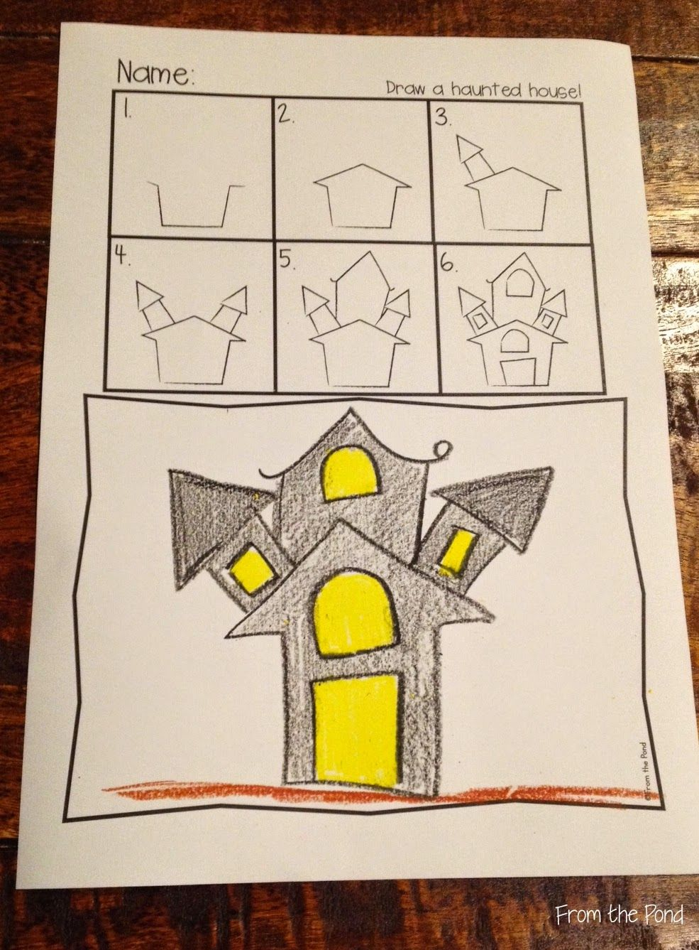 985x1337 Free Haunted House Directed Drawing New Teachers