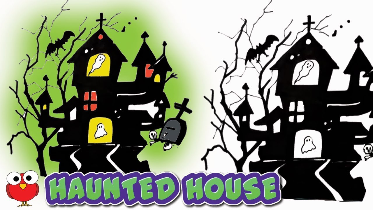 1280x720 How To Draw A Haunted House For Halloween Step By Step For Kids