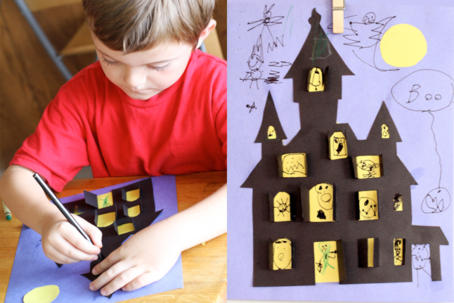 646x431 Halloween Haunted House Crafts For Kids Pbs Parents