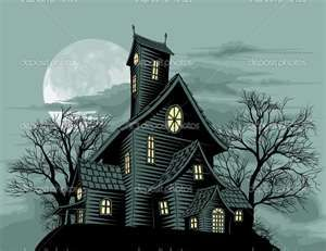 300x231 Haunted House Drawing Art Home Is Where The Heart Is