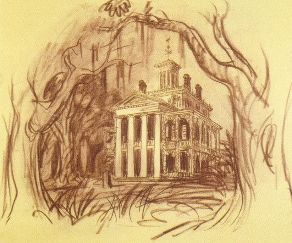 1023x854 Disneyland Haunted Mansion Concept Art With E Ticket Interview