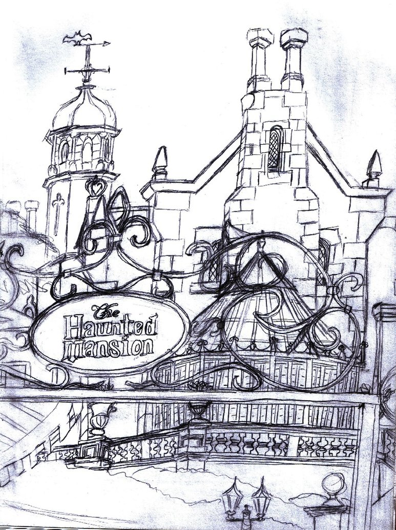 773x1033 Haunted Mansion Sketch By Neosun7