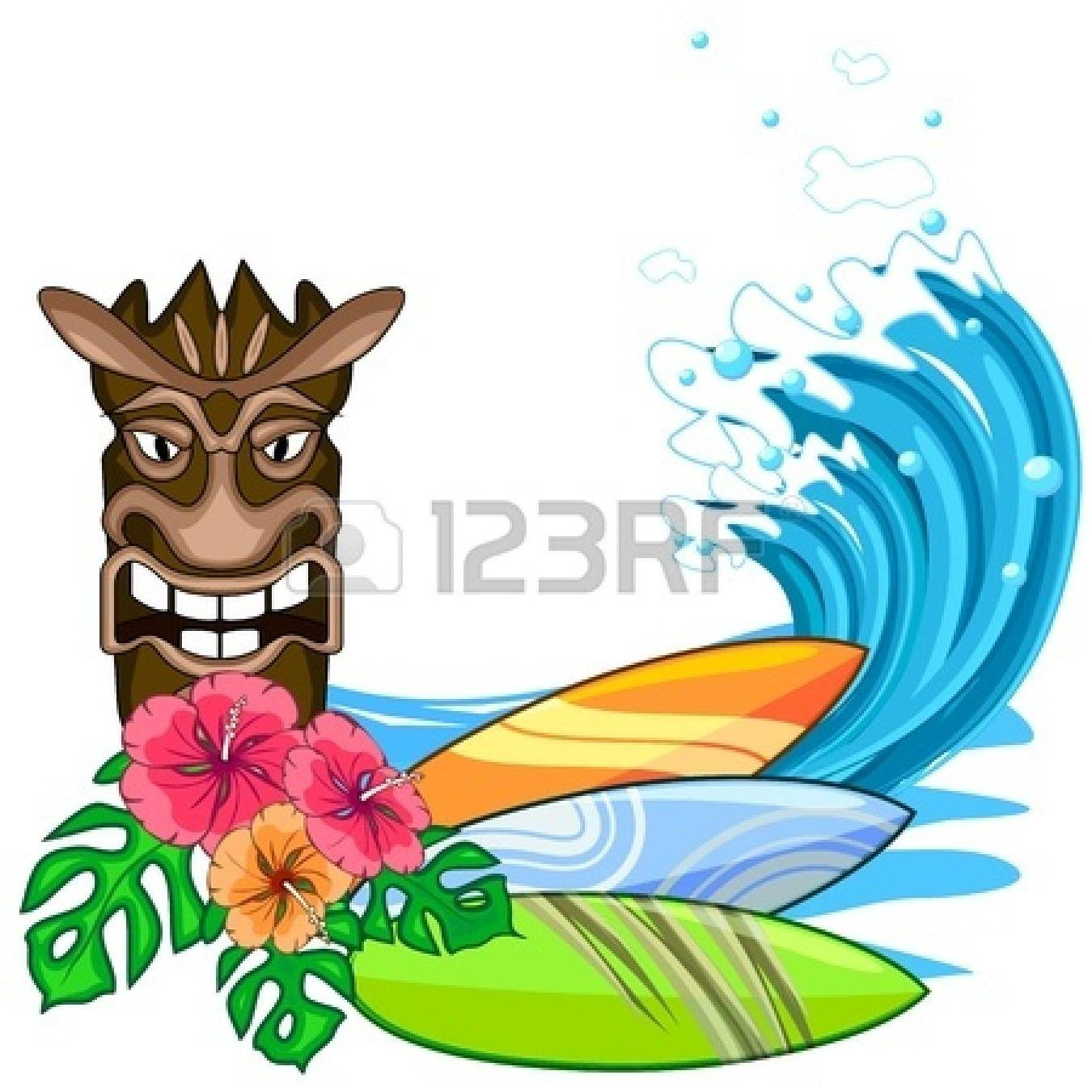 1350x1350 Best Free Surfer Clipart Hawaii Drawing Images