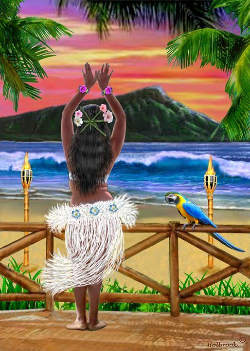 514x720 Hawaiian Sunset Hula