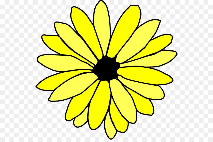 900x600 Flower Drawing Common Daisy Clip Art