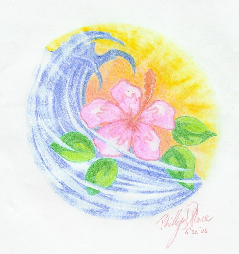 784x832 Mister Tattoos Hawaiian Flower Tattoo Designs Picture