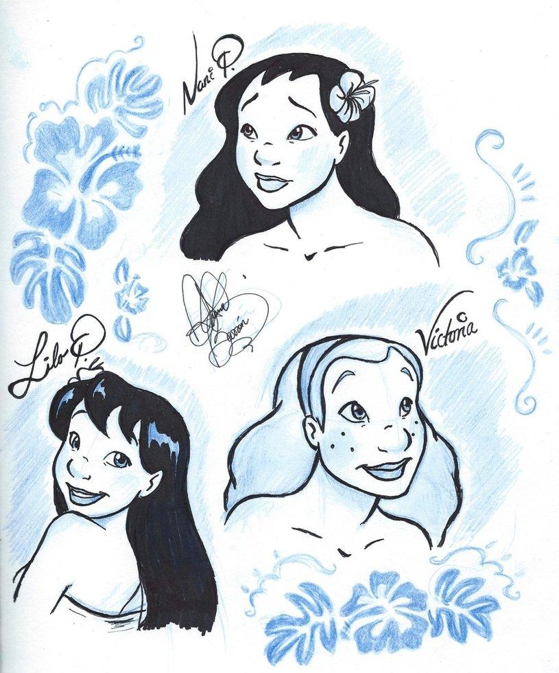 815x980 Hawaiian Girls By Jackfreak1994