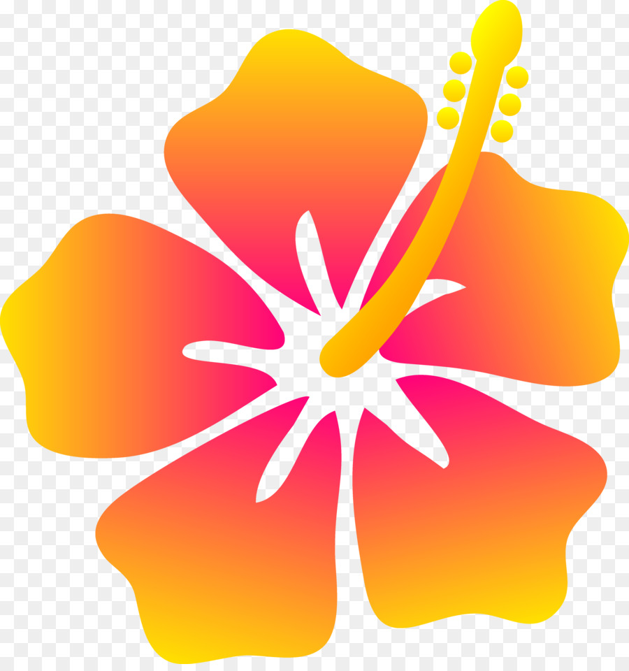 900x960 Hawaiian Flower Drawing Clip Art