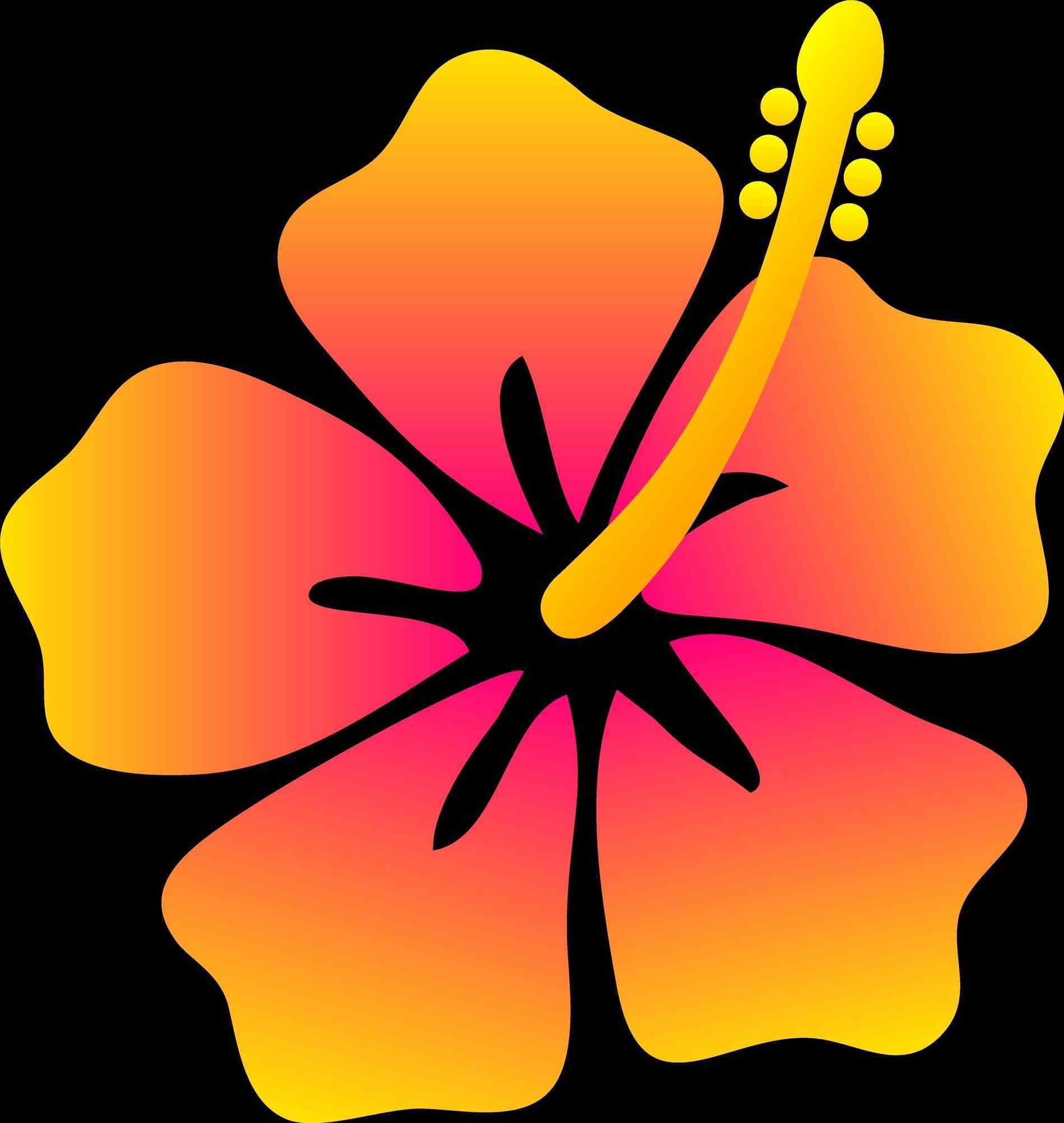 1899x2005 Hawaiian Flowers Hd Hawaiian Flower Drawing Clipart Cdr Drawings