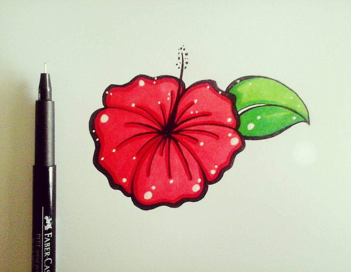1212x938 How To Draw Flowers For Beginners Easy Version Hibiscus Flower