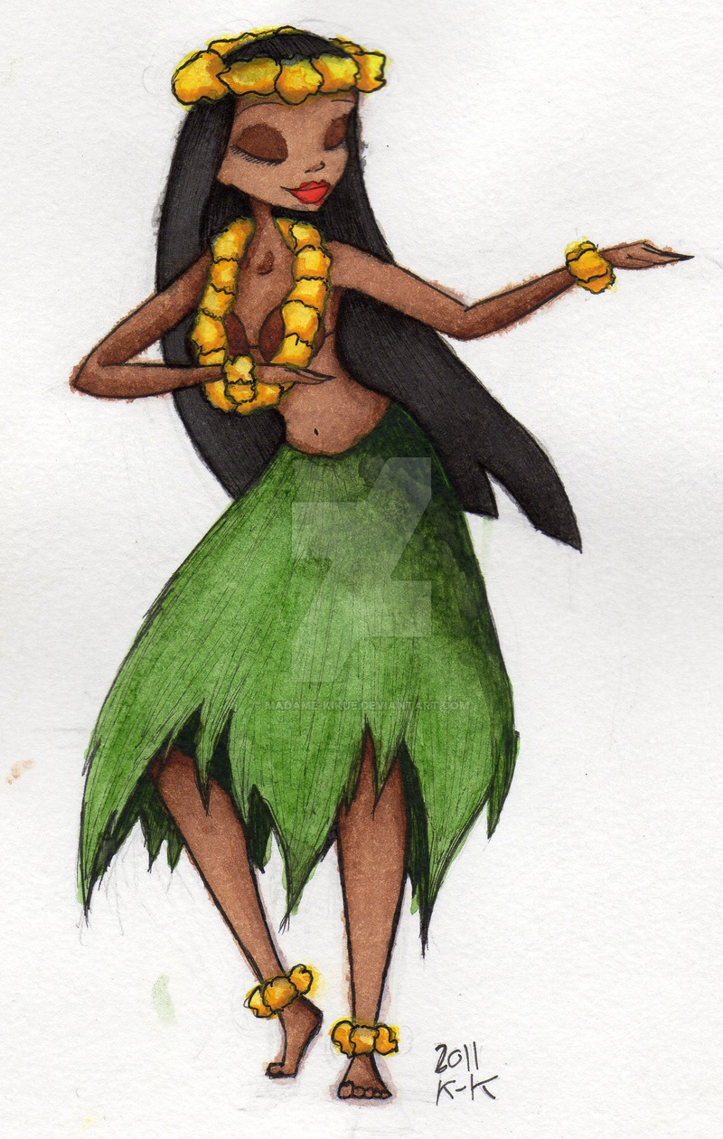 800x1260 Burtonized Hula Girl By Madame Kikue