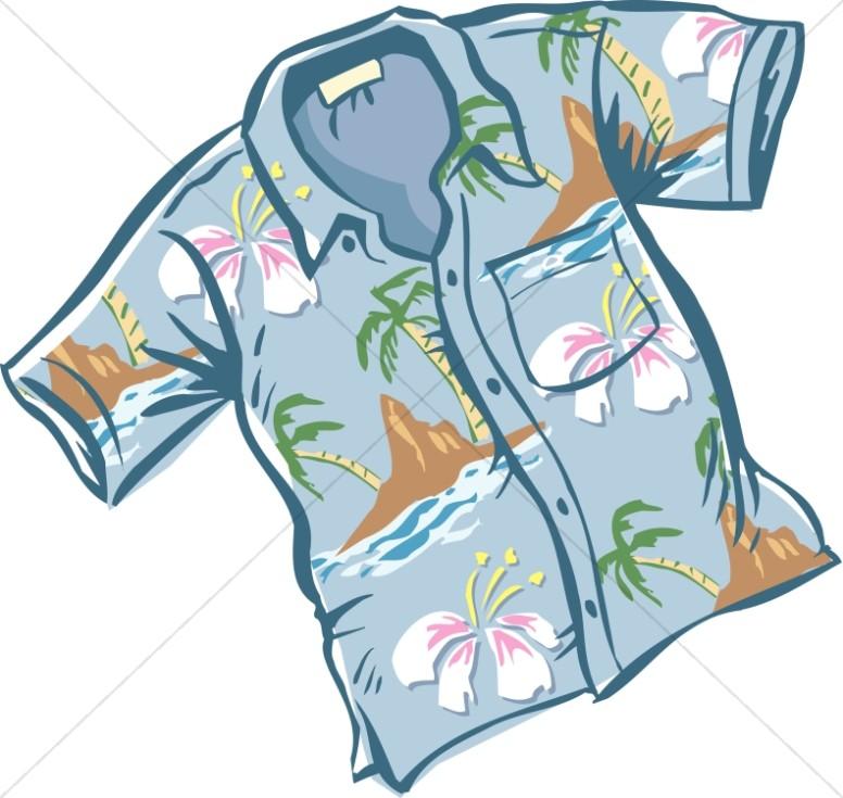 776x735 Nice Blue Hawaiian Shirt Lay Holiday Clipart