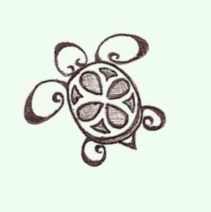 719x720 Cute Little Turtle Tattoos Turtle, Drawings