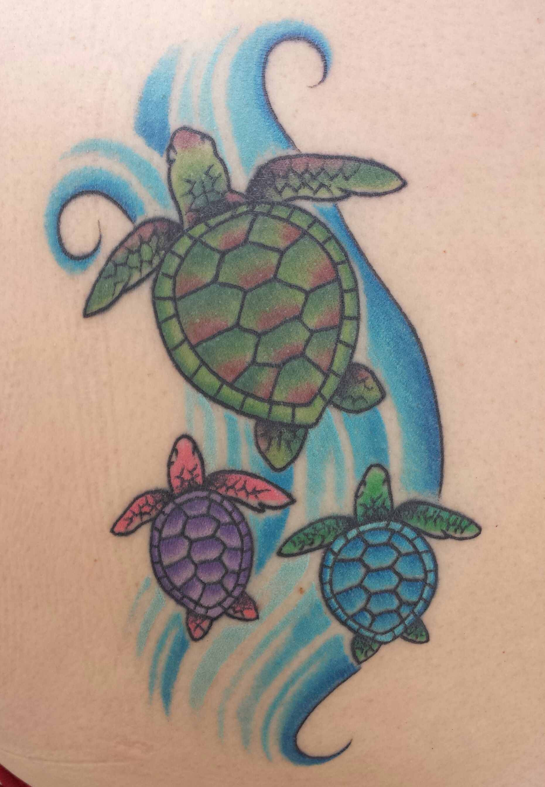 1861x2687 Hawaiian Sea Turtle Tattoo Mom With Babies My Style