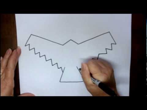 480x360 How To Draw A Hawk Outline Step By Step Simple Easy Drawing Lesson