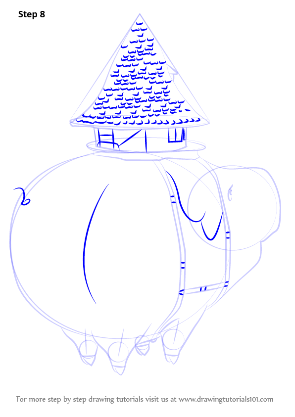 596x843 Step By Step How To Draw Hawk Mama From Nanatsu No Taizai