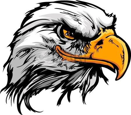450x395 Bald Eagle O Hawk Head Mascot